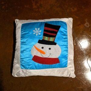Decorative snowman winter Christmas pillow